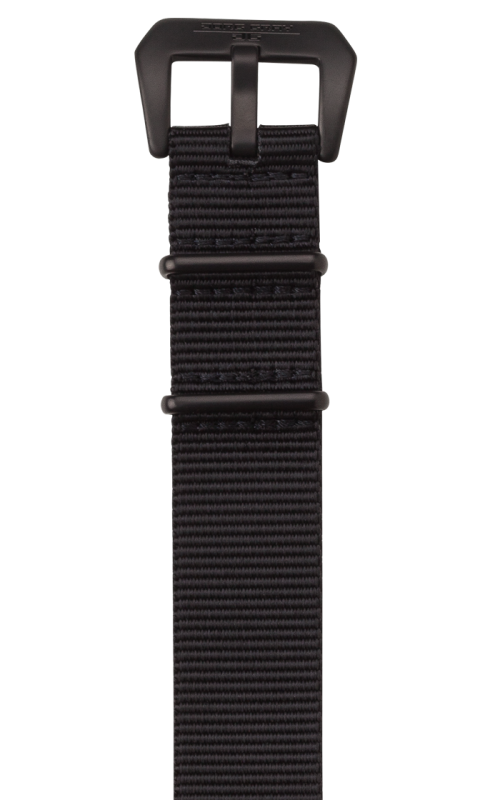 Jorg Gray Replacement Watch Strap - 22mm Black Nylon Strap