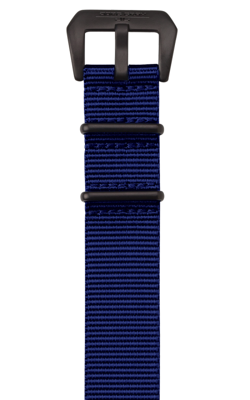 Jorg Gray Replacement Watch Strap - 22mm Blue Nylon Strap