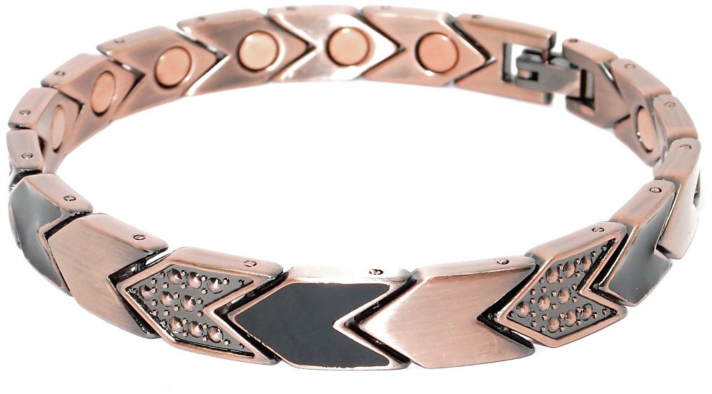Copper Plated Mixed Arrows - Magnetic Therapy Bracelet (NP444)