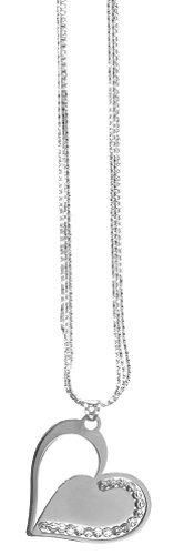 "Officina Bernardi - Heart Collection - 18"" + 2"" Elegant Heart Necklace (4 Color Choice) - Italian 925 Sterling Silver"
