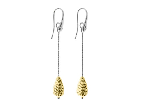 Officina Bernardi - Galaxy Collection - Yellow Pear Teardrop Earrings - Italian 925 Sterling Silver