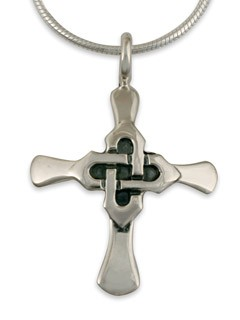 "Celtic Kells Cross Pendant with 18"" Box Chain - DISCONTINUED"