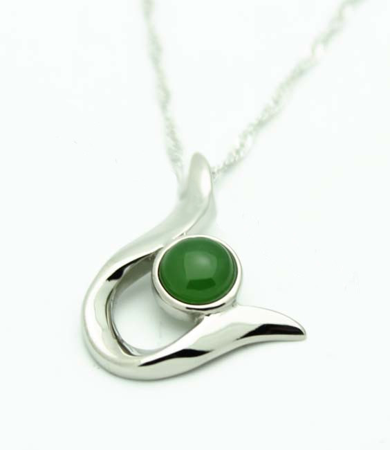 Jade Hook Pendant (UJKK-P0098-ST) - DISCONTINUED
