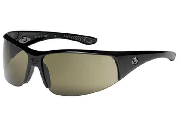 Gargoyles Sunglasses - Cache Black with Green Lens - Instinct Collection- DISCONTINUED