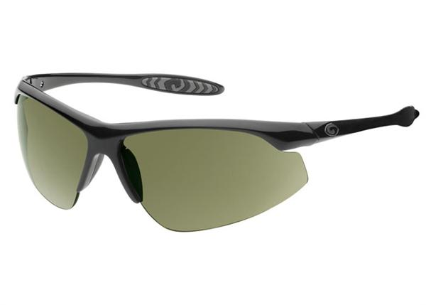 Gargoyles Sunglasses - Striker Black with Green Lens - Instinct Collection - DISCONTINUED