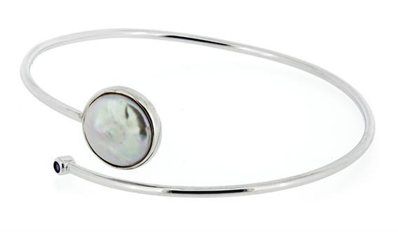 Q Ray - Sterling Series - Sterling Silver & Pearl Bracelet (Q6300)