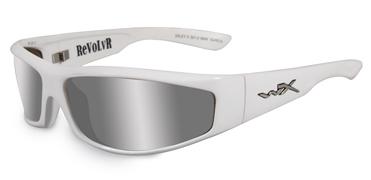 Wiley X Sunglasses - Revolvr Pearl White with Bronze Silver Flash Lens - Street Series