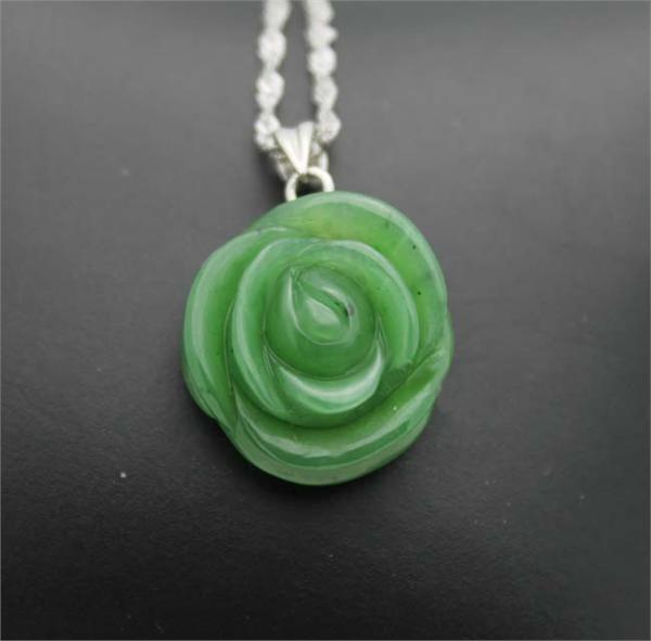 Jade Rose Pendant (HNW-3597) - DISCONTINUED