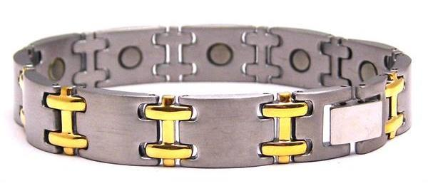 Neptune Gold - Pure Titanium Magnetic Therapy Bracelet (T456SG)