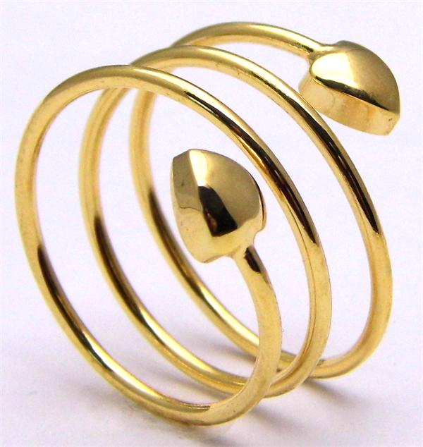 Golden Spiral - Gold Plated Magnetic Therapy Ring (FR1)