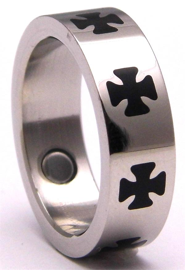 Stainless Steel Magnetic Therapy Ring (USR004) - New!