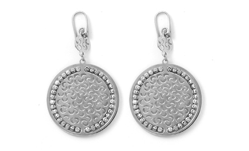 Officina Bernardi - Sole Collection - Large Disc Earrings (4 Color Choice) - Italian 925 Sterling Silver
