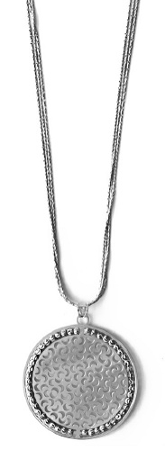 "Officina Bernardi - Sole Collection - 18"" + 2"" Disc Necklace (4 Color Choice) - Italian 925 Sterling Silver"