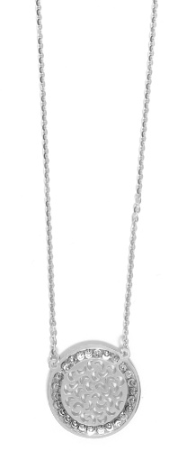 "Officina Bernardi - Sole Collection - 16"" + 2"" Elegant Disc Necklace (4 Color Choice) - Italian 925 Sterling Silver"