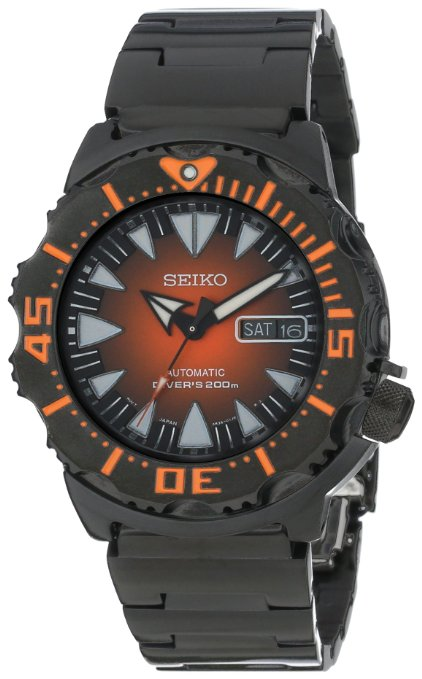 "Seiko 2013 ""MONSTER"" Automatic Black & Orange Sunburst Dial Dive Watch SRP311 - Seiko Watch (Mens) - DISCONTINUED"