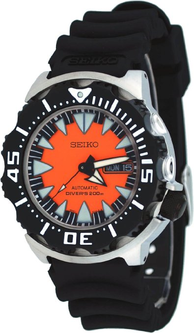 "Seiko 2013 ""MONSTER"" Automatic Black & Orange Dial Dive Watch SRP315 - Seiko Watch (Men's)"
