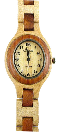 Italia Due Oval - Wooden Watch (SRV4WL) - CLEARANCE SALE - DISCONTINUED