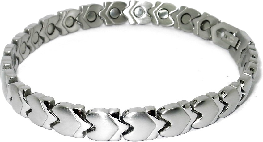 Silver Plated Arrows - Stainless Steel Magnetic Therapy Bracelet or Anklet (SS-16)