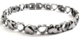 Silver Opposites - Stainless Steel Magnetic Therapy Bracelet