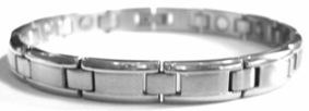 Silver Steps - Stainless Steel Magnetic Therapy Bracelet