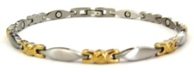 Golden Changes - Stainless Steel Magnetic Therapy Bracelet - DISCONTINUED