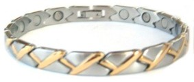 Golden Crossings - Stainless Steel Magnetic Therapy Bracelet