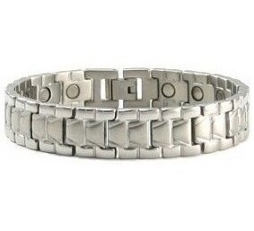 Silver Falls - Silver Plated Stainless Steel Magnetic Therapy Bracelet (CSS-41)