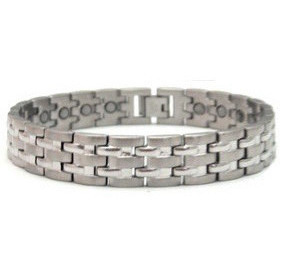 Lieutenant - Stainless Steel Magnetic Therapy Bracelet (CSS-62)