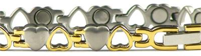 Opposites Attract - Stainless Steel Magnetic Therapy Bracelet (SSHL0072SG) - NEW!