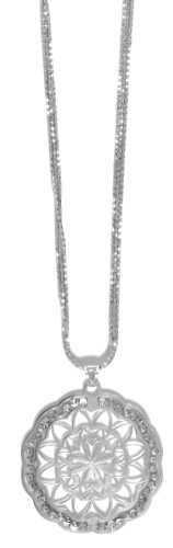 "Officina Bernardi - Stella Collection - 18"" + 2"" Necklace (4 Color Choice) - Italian 925 Sterling Silver"