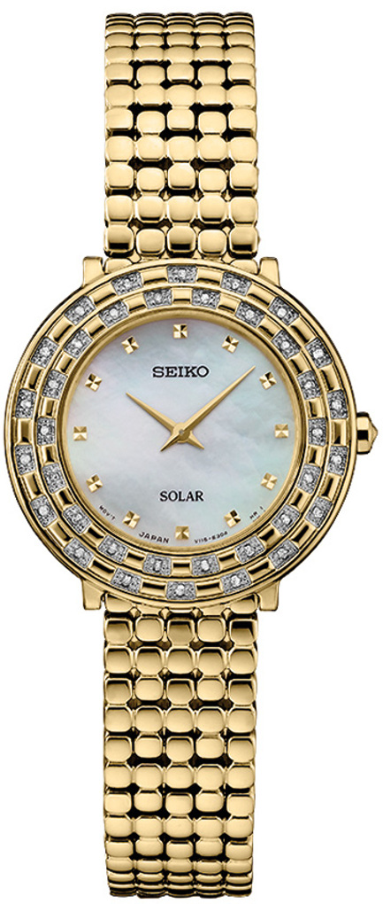 Seiko Tressia Solar W 36 Diamonds Amp Mother Of Pearl Dial