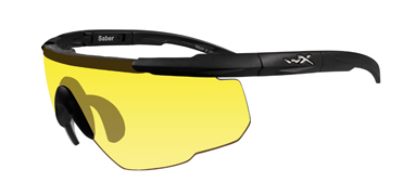 Wiley X Sunglasses - Saber Advanced Matte Black with Pale Yellow Lens - Changeable Series