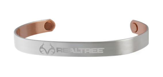 Sabona Realtree Brushed Silver Plated Copper Wristband (441)