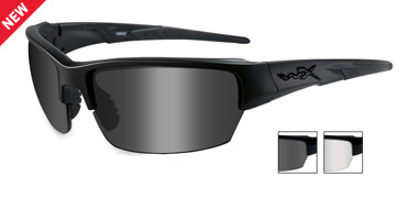 Wiley X Sunglasses - Saint Black Ops/Matte Black with Smoke Grey/Clear Lens - Changeable Series
