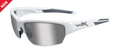 Wiley X Sunglasses - Saint Gloss White with Silver Flash (Smoke Grey) Lens - Changeable Series