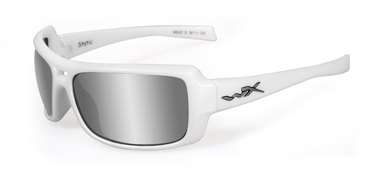 Wiley X Sunglasses - Static Pearl White with Silver Flash (Smoke Grey) Lens - Street Series - DISCONTINUED