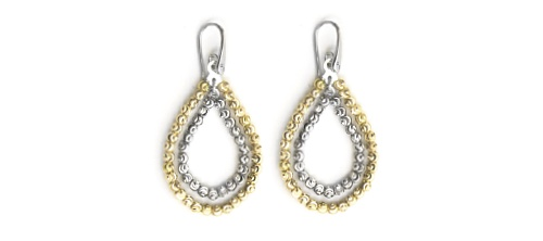 Officina Bernardi - Teard Collection - Dual Gold Plated Earrings - Italian 925 Sterling Silver