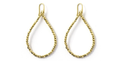 Officina Bernardi - Teard Collection - Large Gold Plated Earrings - Italian 925 Sterling Silver