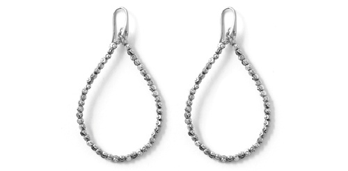 Officina Bernardi - Teard Collection - Large White Earrings - Italian 925 Sterling Silver