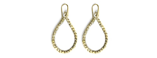 Officina Bernardi - Teard Collection - Gold Plated Earrings - Italian 925 Sterling Silver