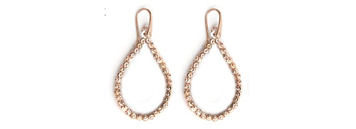 Officina Bernardi - Teard Collection - Pink Earrings - Italian 925 Sterling Silver