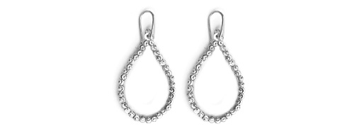 Officina Bernardi - Teard Collection - White Earrings - Italian 925 Sterling Silver