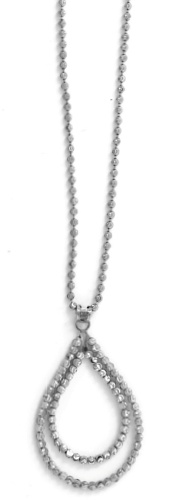 "Officina Bernardi - Teard Collection - 18"" + 2"" Necklace (4 Color Choice) - Italian 925 Sterling Silver"