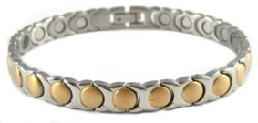 Golden Circles - Gold Plated Titanium Magnetic Therapy Bracelet (CTT-008) - NEW! - DISCONTINUED