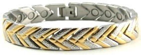 Sandy Beach - Pure Titanium Magnetic Therapy Bracelet (CTT-17)