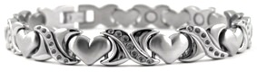 Ornate XOXO - Titanium Magnetic Therapy Bracelet (CTT-083) - NEW!