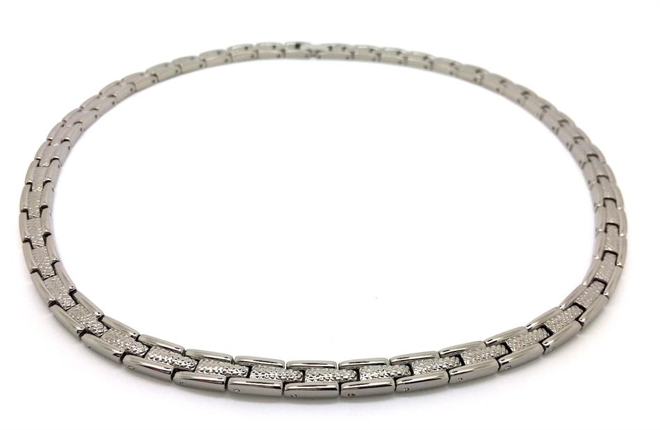 "19"" Tennis Classic Silver Plated Titanium Magnetic Therapy Necklace (TTN-01)"