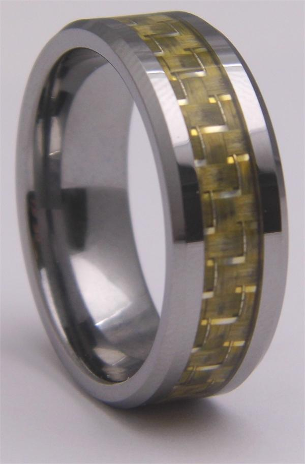Tungsten Carbide Ring with Woven Inlay
