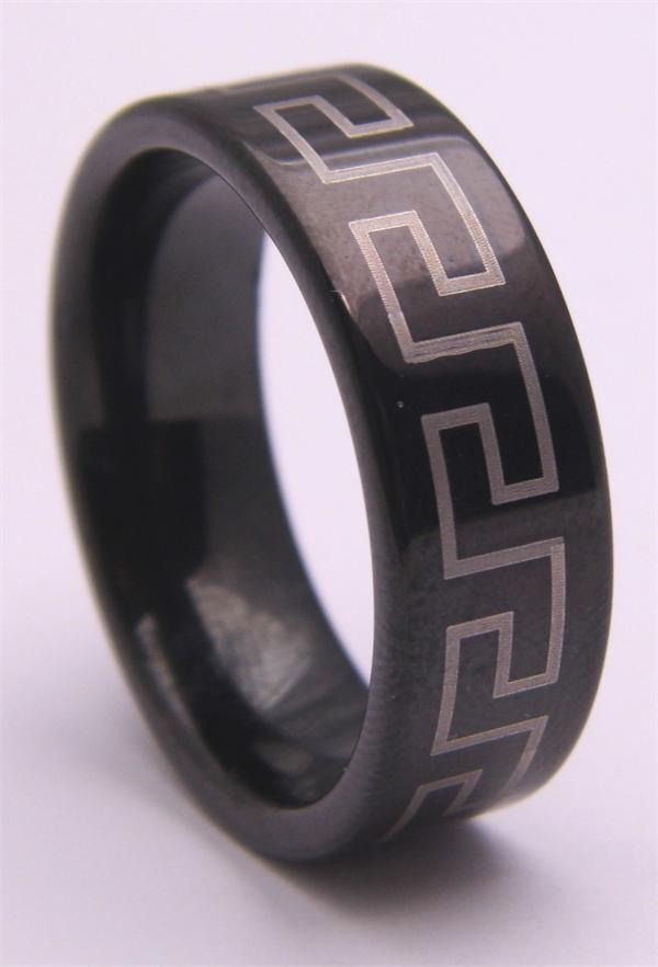 Tungsten Carbide Patterned Ring