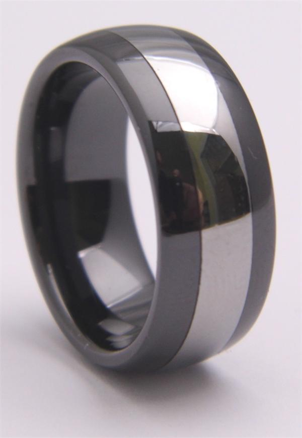 Tungsten Carbide Ring with Solid Stripe